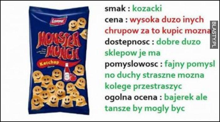 Recenzja monster munch