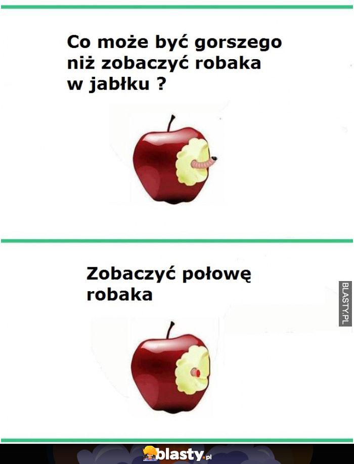 Robak w jabłku