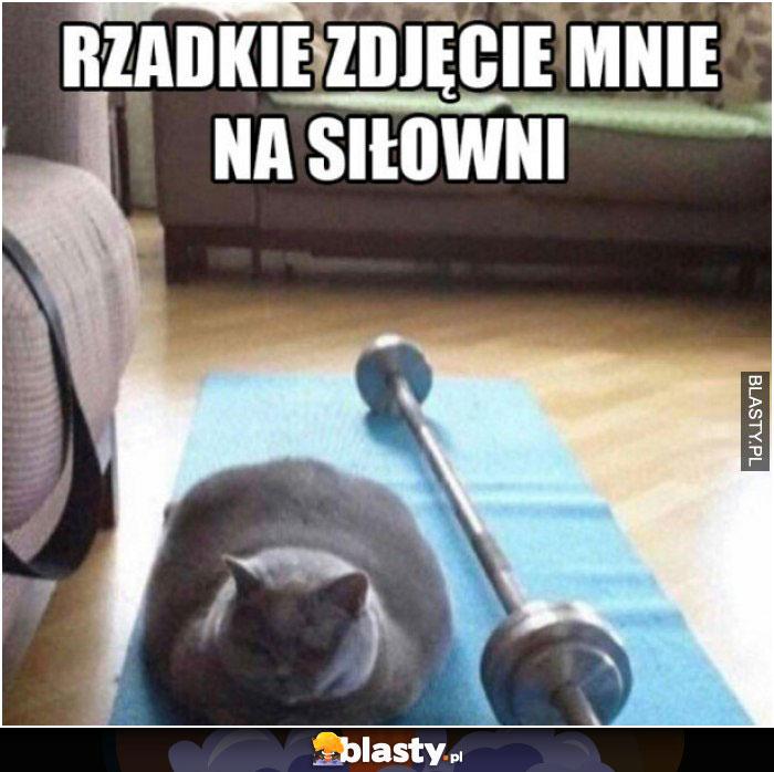 Rzadzkie zdjęcie mnie na siłowni