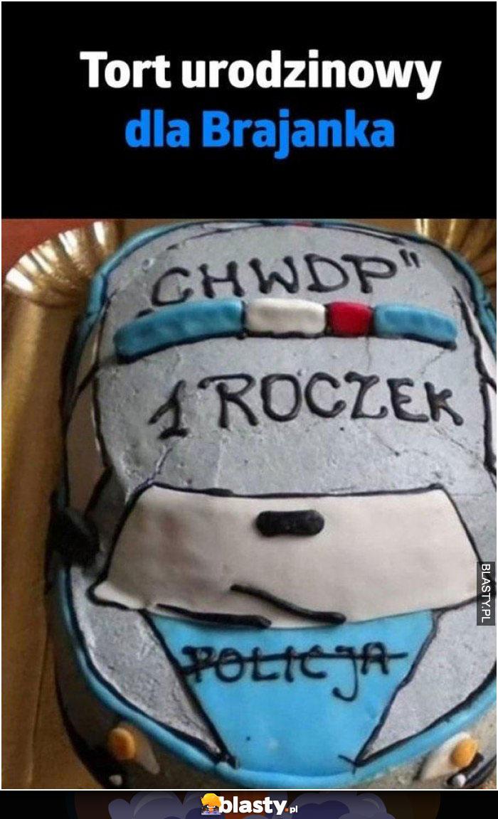 Tort urodzinowy dla brajanka