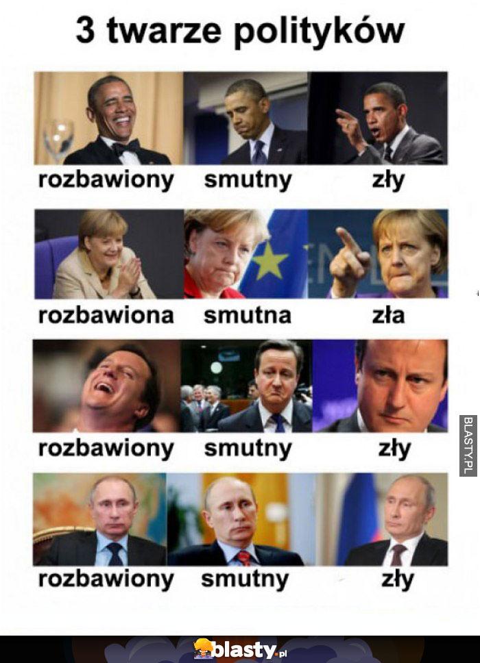 Trzy twarze polityków
