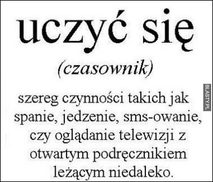 Uczyć się - czasownik