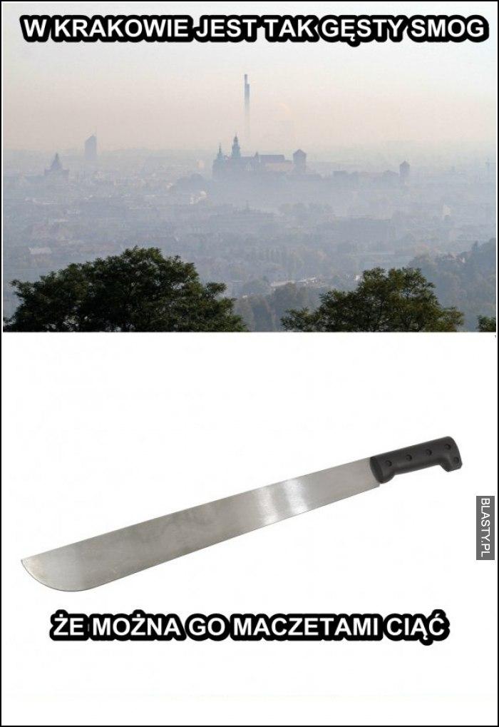 W Krakowie jest tak gęsty dym