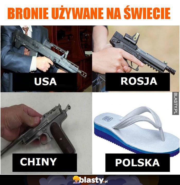 4 rodzaje broni używanych na świecie