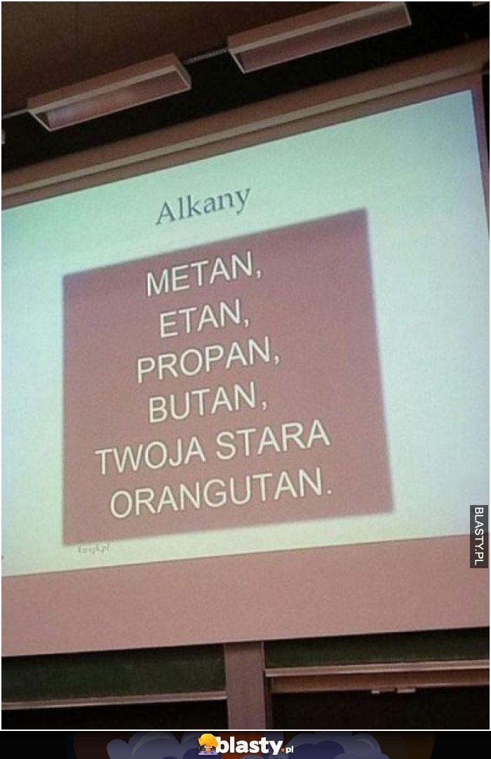 Alkany metany etan