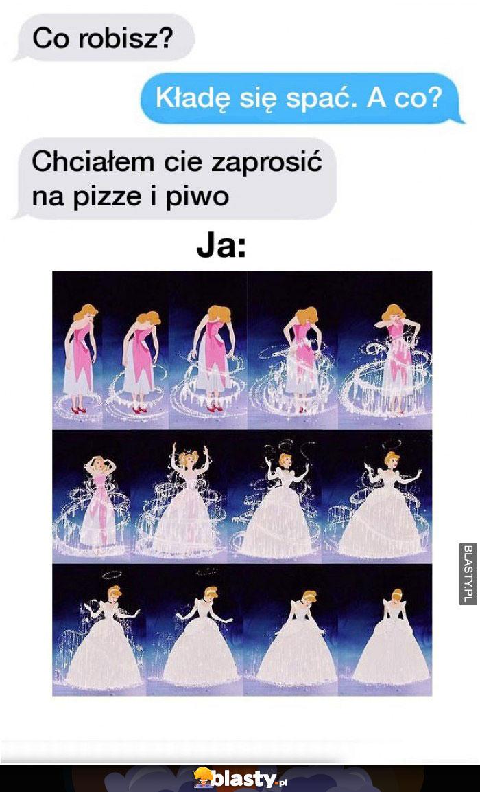 Chciałbym zaprosić cię na pizow i pizze