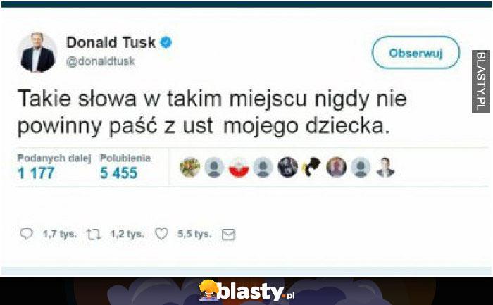 Donald Tusk o synu