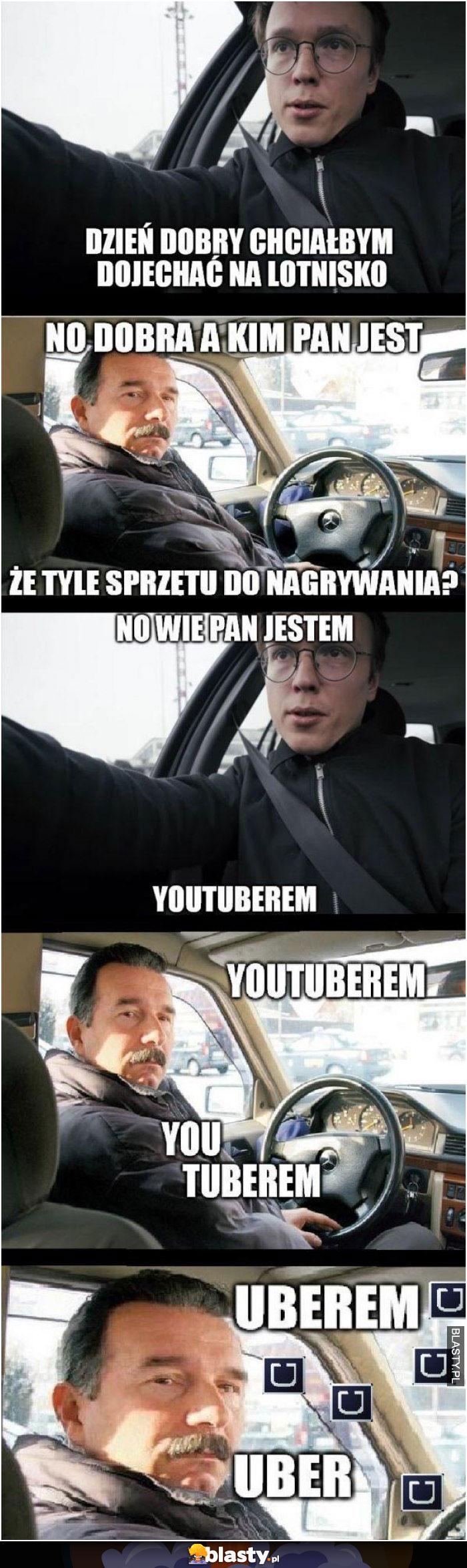 Dzień dobry chciałbym dojechać na lotnisko jestem znanym youtuberem