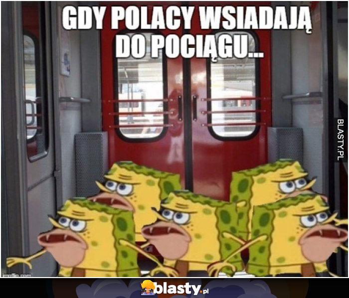 Gdy polacy wsiadają do pociągu