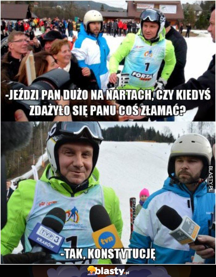Jeździ pan dużo na nartach