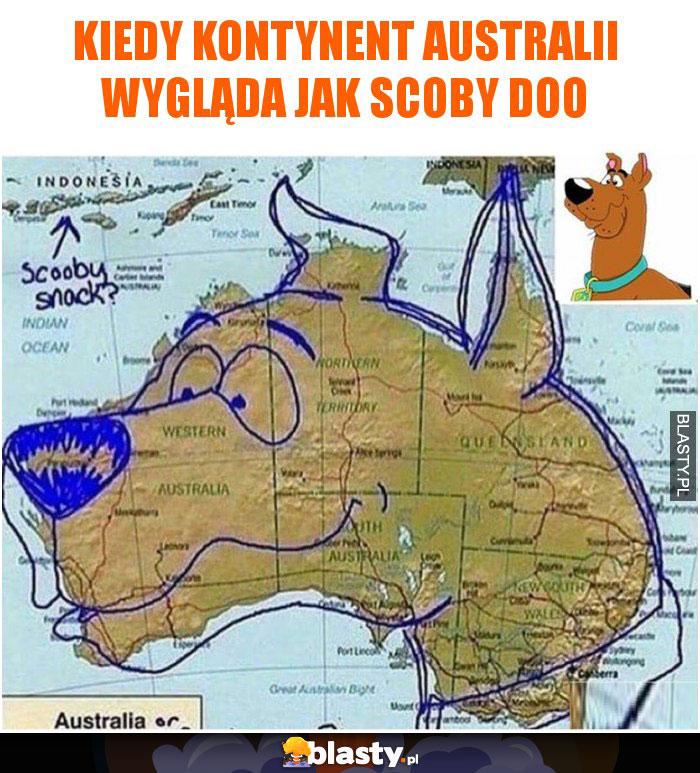 Kiedy kontynent Australii wygląda jak scoby doo