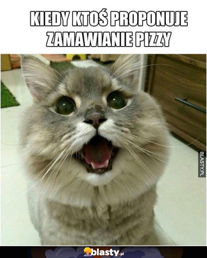 Kiedy ktoś proponuje zamawianie pizzy