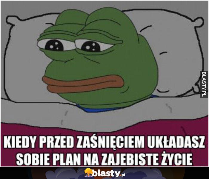 Kiedy przed zaśnięciem układasz sobie plan