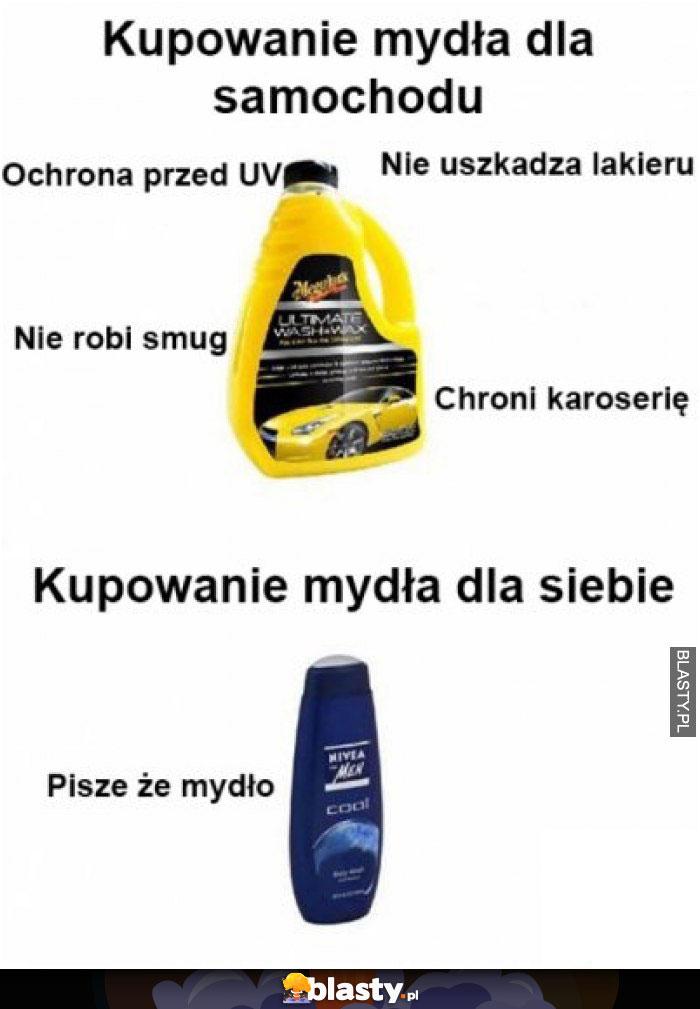 Kupowanie mydła dla samochodu