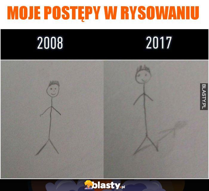 Moje postępy w rysowaniu