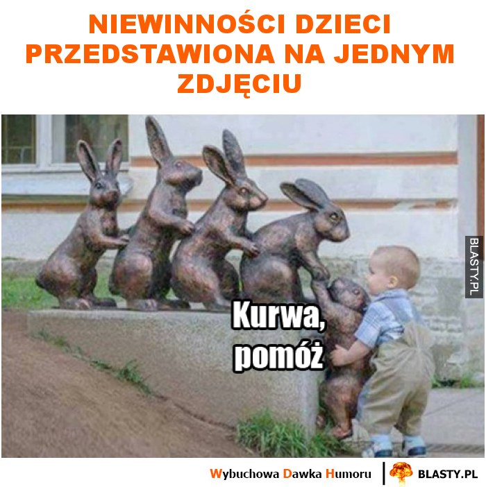 Niewinności dzieci przedstawiona na jednym zdjęciu