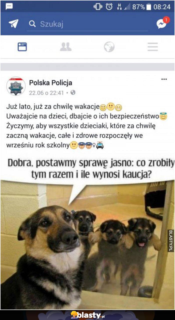 Ostrzeżenie policji