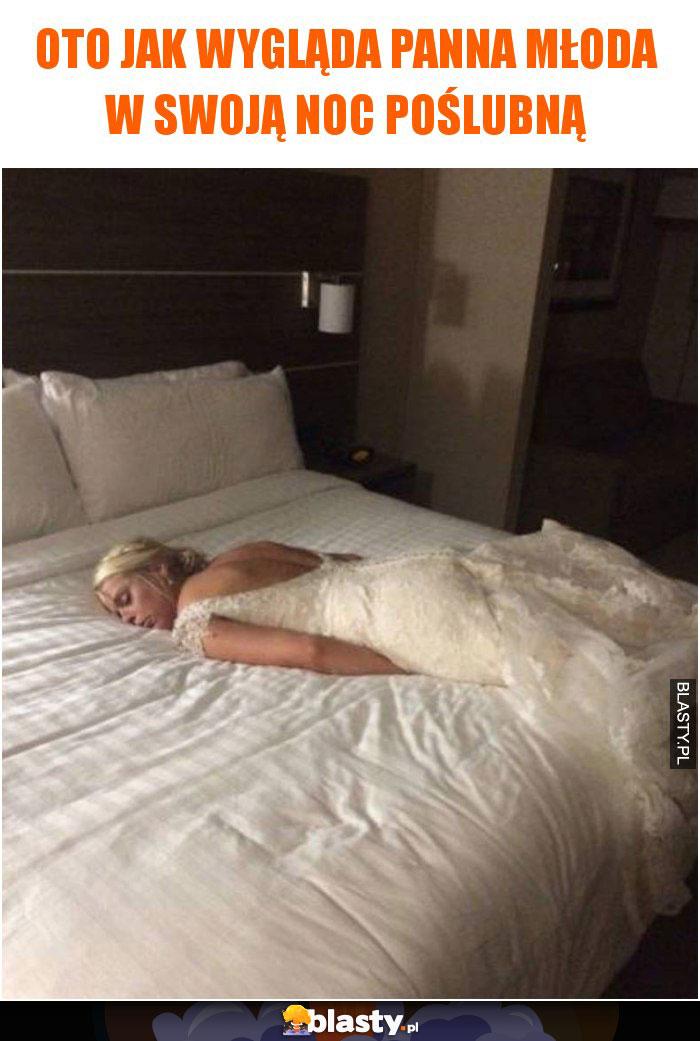 Oto jak wygląda Panna młoda w swoją noc poślubną
