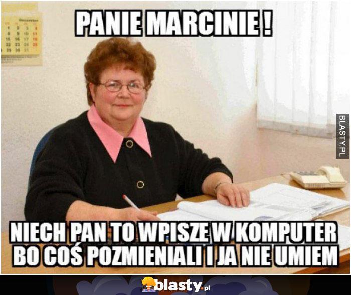 Panie Marcinie