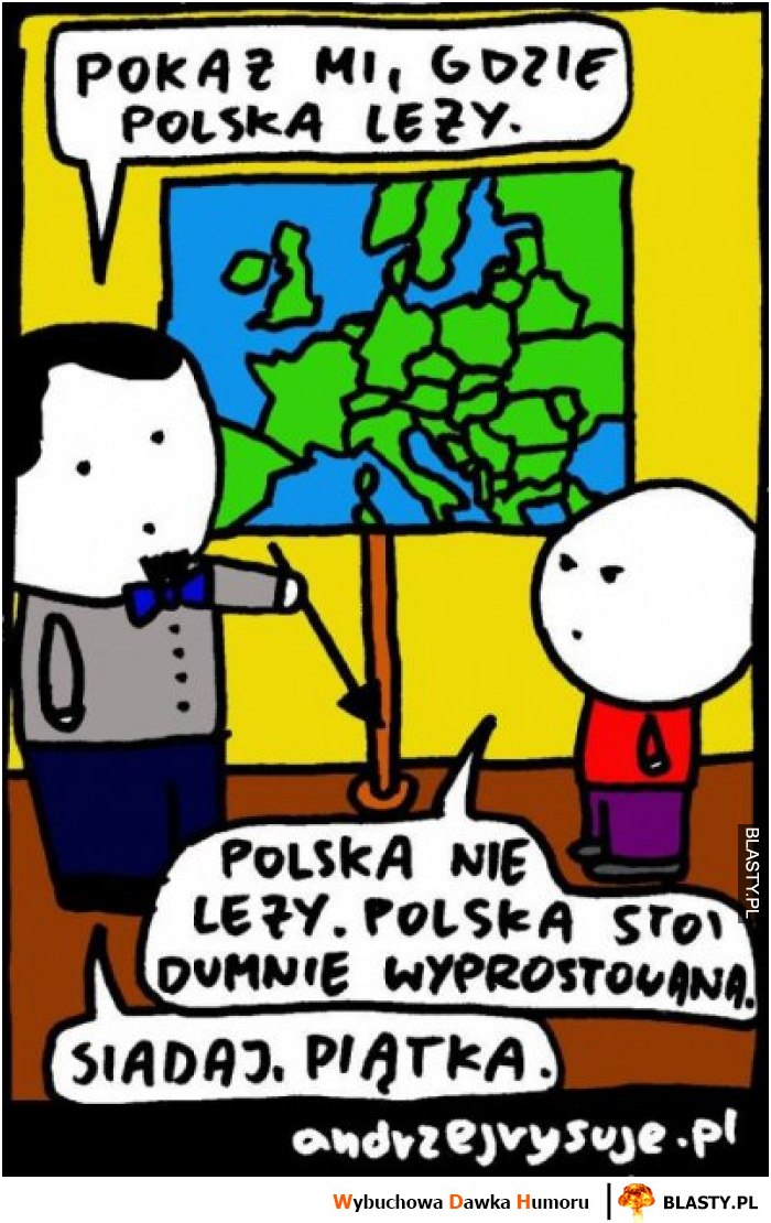 Pokaż mi gdzie leży polska