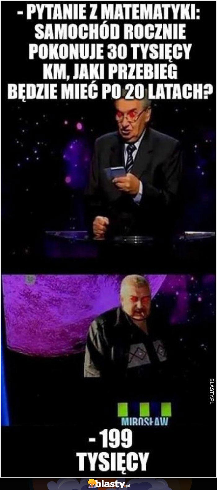 Pytanie z matematyki