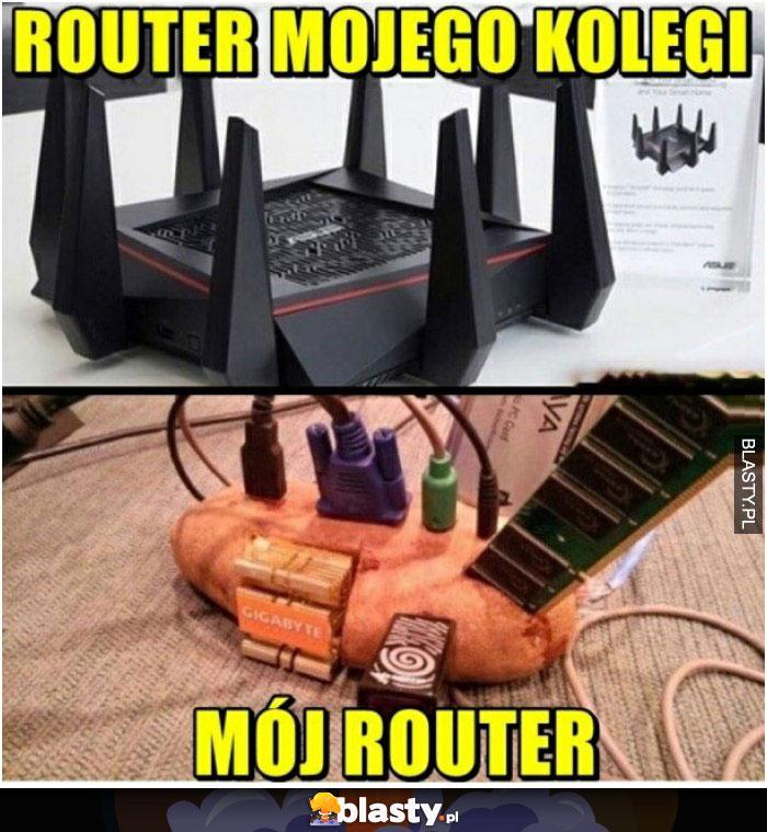 Router mojego kolegi vs mój router