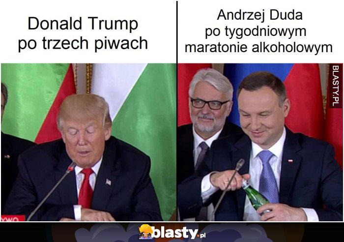 Donald Trump po trzech piwach