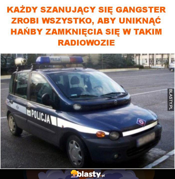 Każdy szanujący się gangster zrobi wszystko, aby nie dać się zamknąć w tym samochodzie