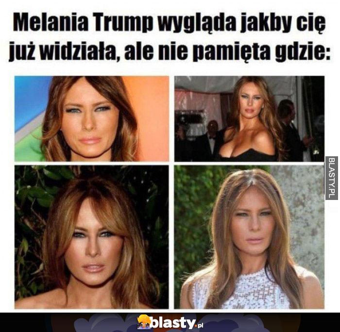 Melania Trump mruży oczy - wygląda jakby Cię już długo nie widziała
