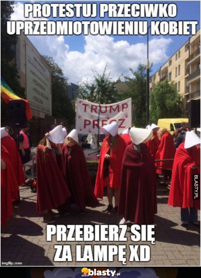 Protest przeciwko uprzedmiotowieniu kobiet