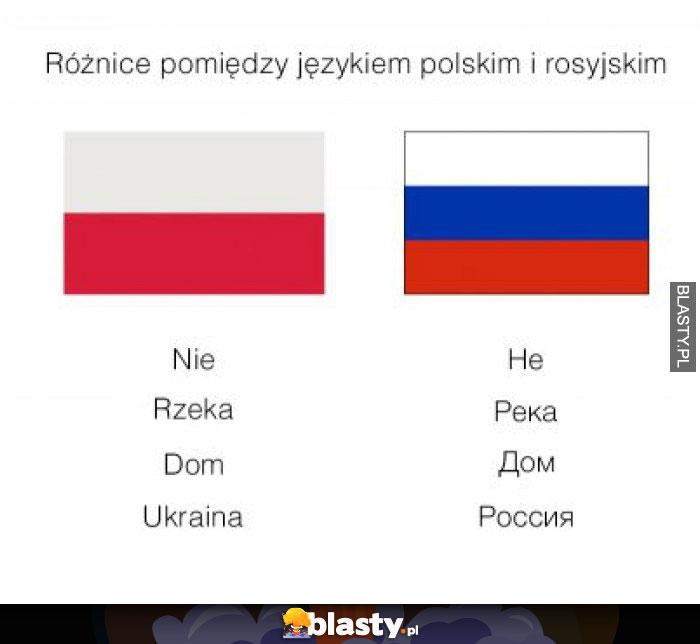 Różnice pomiędzy językiem polskim i rosyjskim