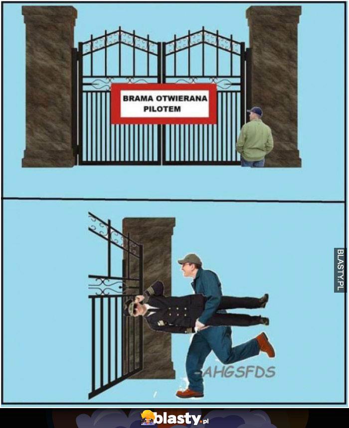 Brama otwierana pilotem