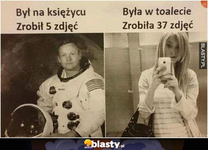 Był na księżycu zrobił 5 zdjęć - była na księżycu zropbiła ..