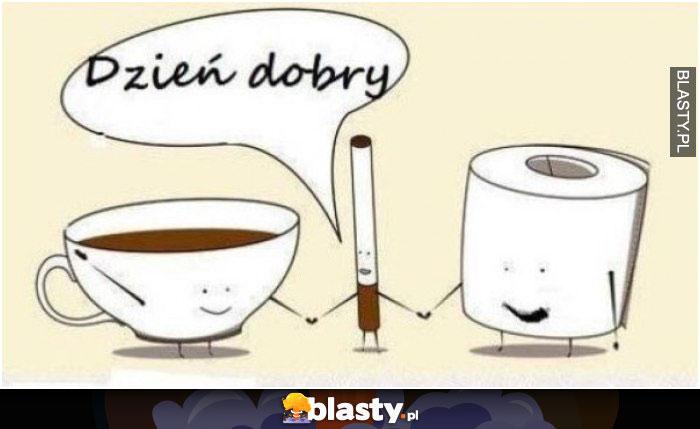 Kawa kupa i papieros