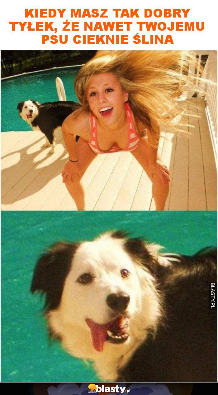 Kiedy masz tak dobry tyłek, że nawet twojemu psu cieknie ślina