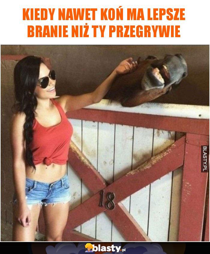 Kiedy nawet koń ma lepsze branie niż Ty przegrywie