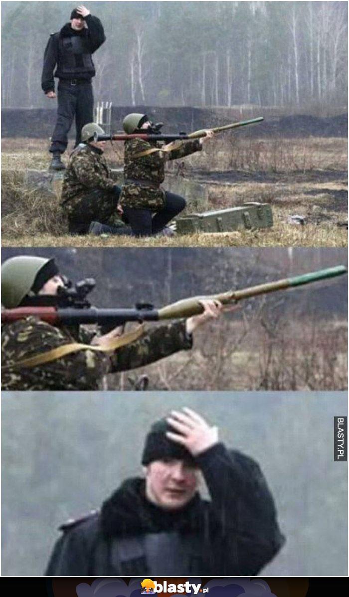 Ładowanie wyrzutni rakiet level kobieta