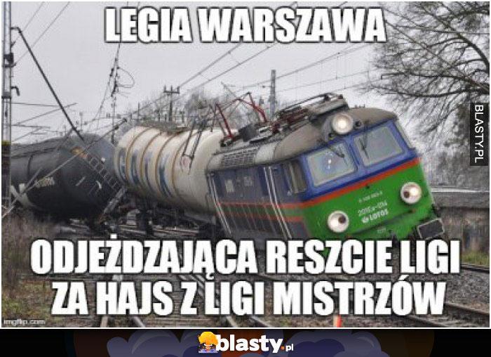 Legia Warszawa odjeżdża reszcie ligi za hasj z ligi mistrzów