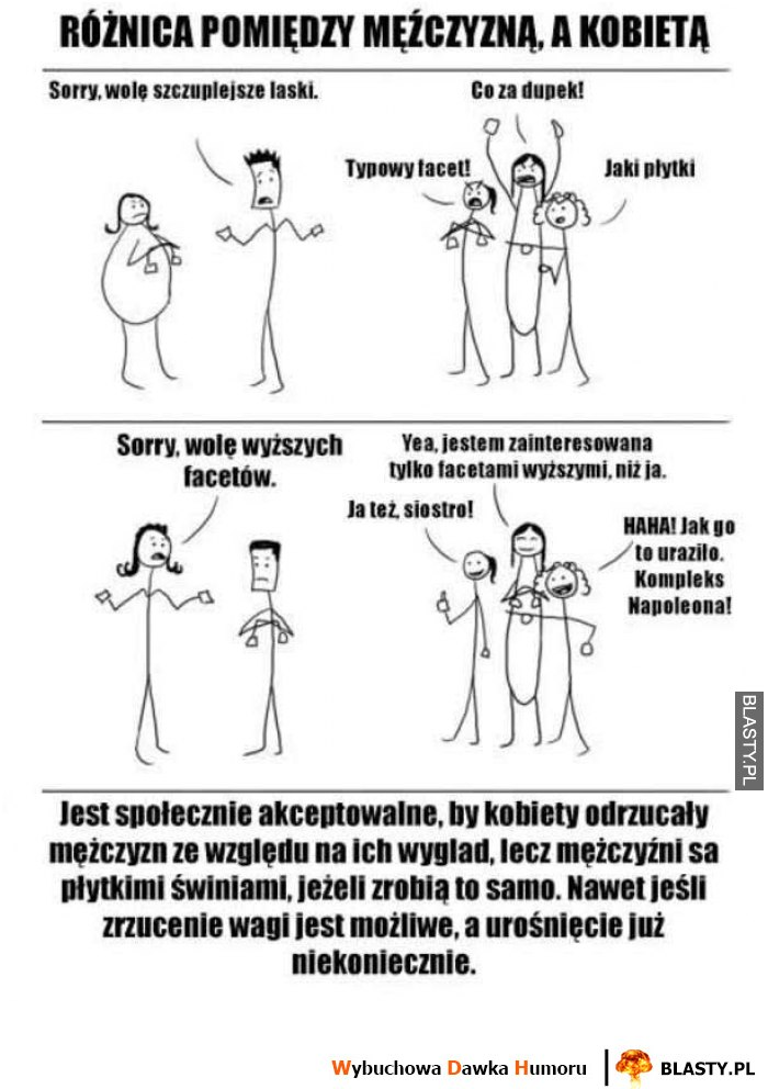Różnica między chłopakami a dziewczynami
