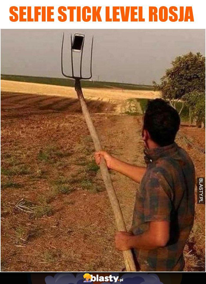 Selfie stick level Rosja