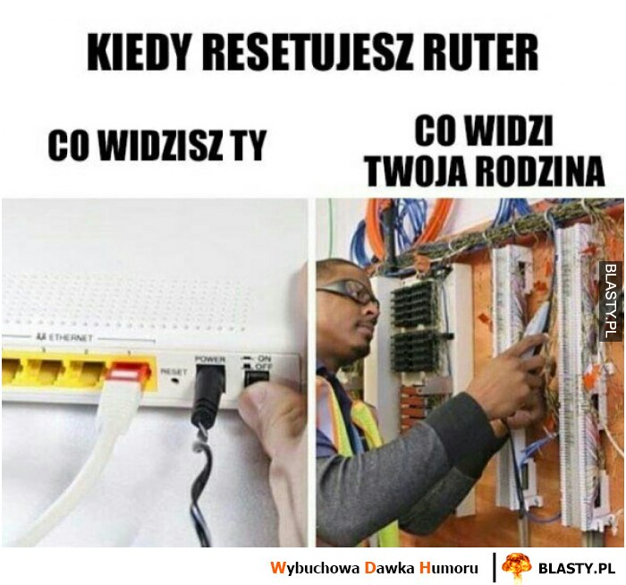 Kiedy resetujesz router