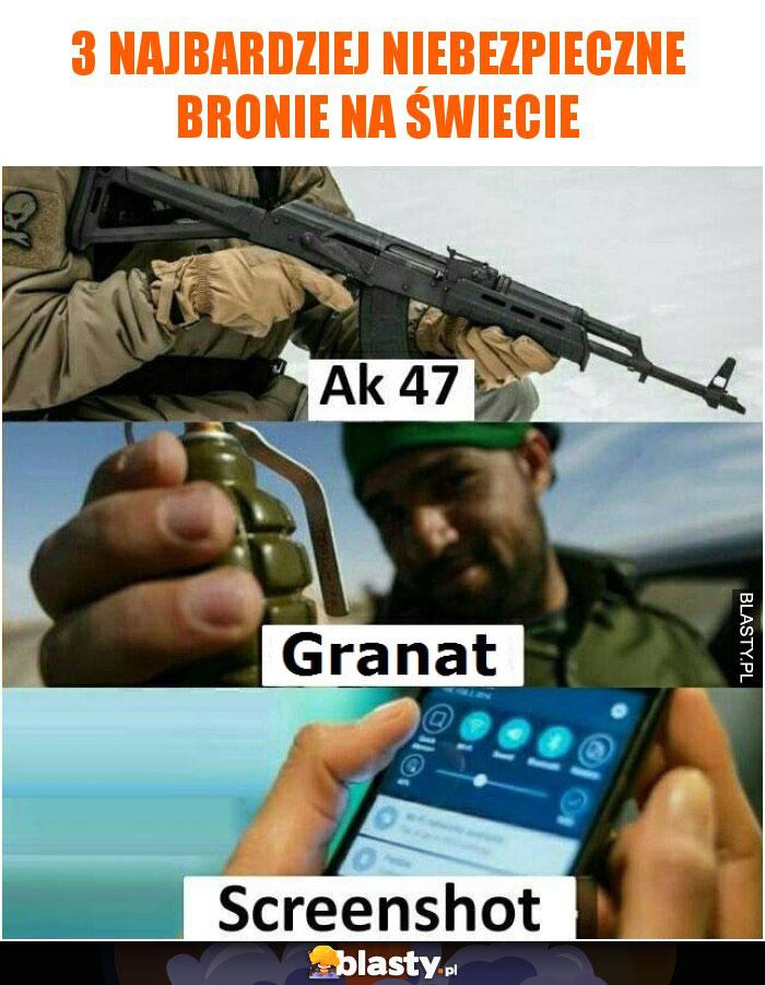 3 najbardziej niebezpieczne bronie na świecie