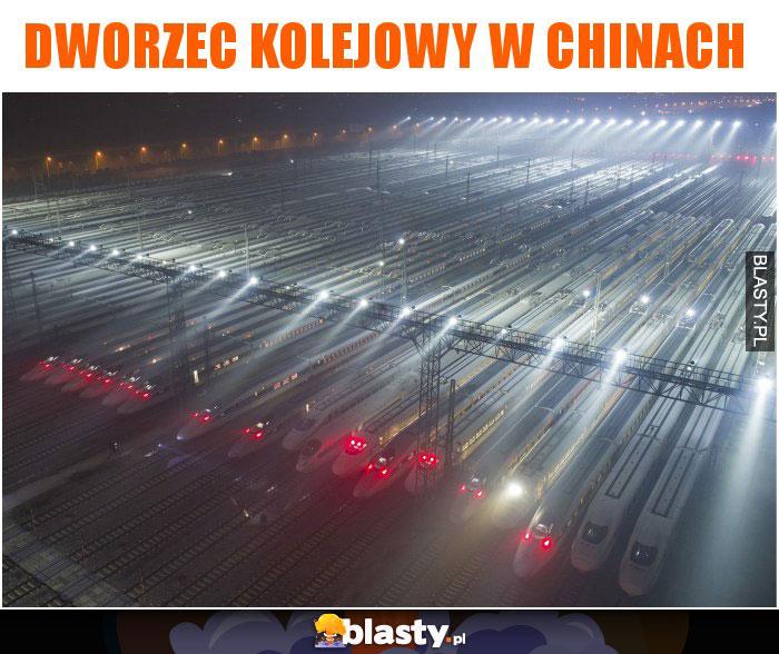 Dworzec kolejowy w chinach