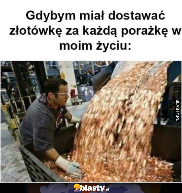 Gdybym miał dostawać złotówkę