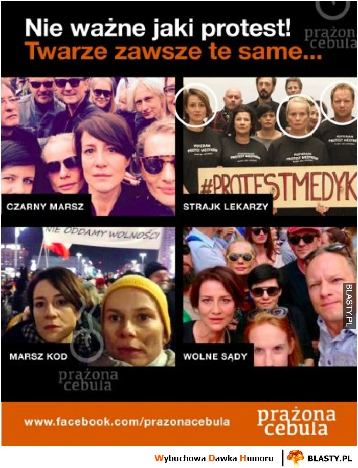 Nie ważne jaki protest - twarze zawsze te same