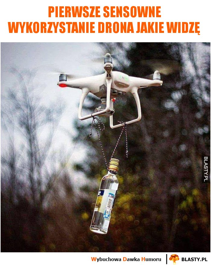 Pierwsze sensowne wykorzystanie drona jakie widzę