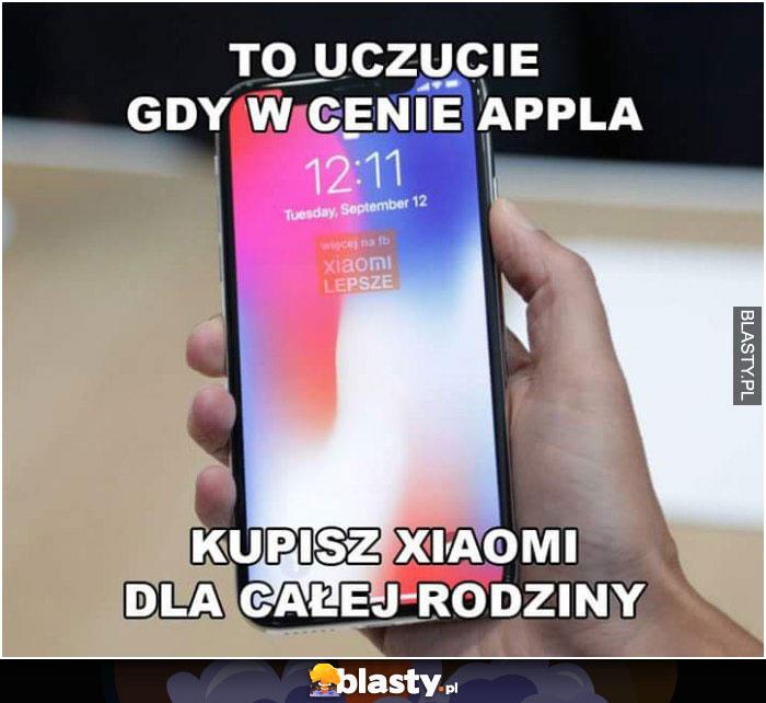To uczucie gdy w cenie appla