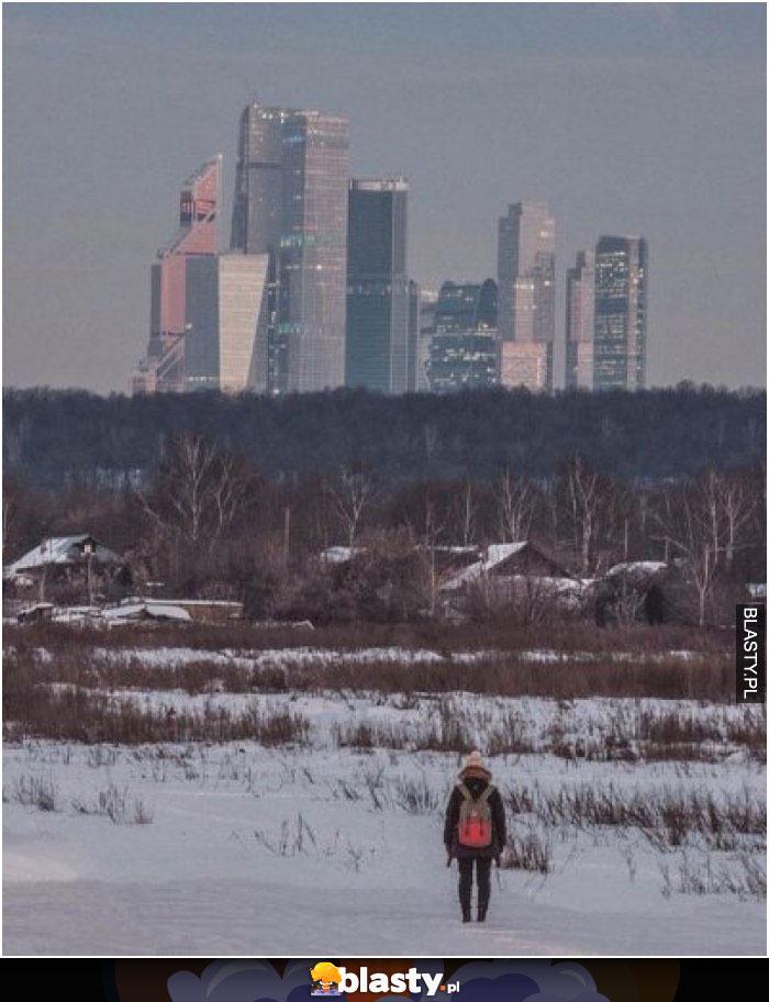 Wieś Terekhovo na obrzeżach Moskwy ( ͡° ͜ʖ ͡°)