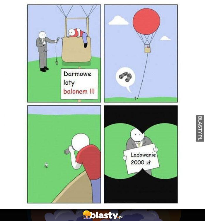 Darmowe loty balonem