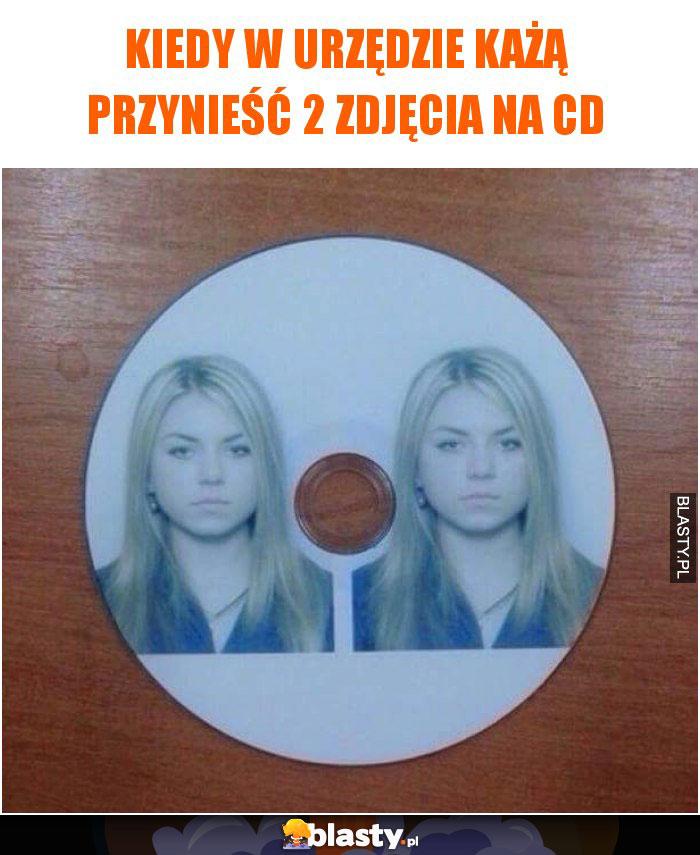Kiedy w urzędzie każą przynieść 2 zdjęcia na CD
